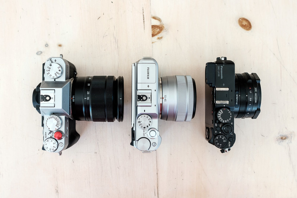 X-T20, X-A5 and LX100