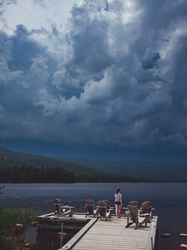 Thunderstorm in Mont Tremblant National Park