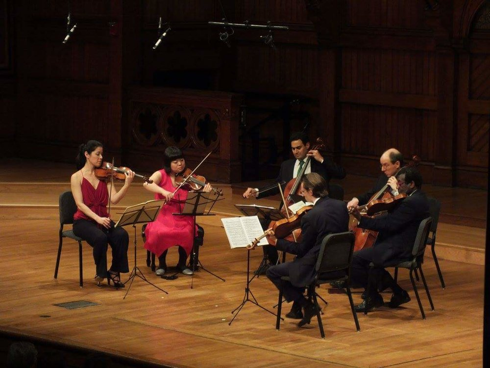 Korngold's String Sextet with the Boston Chamber Music Society (Jennifer Frautschi and Yura Lee, violins; Raman Ramakrishnan and Joshua Gordon, cellos; Dmitri Murrath and Marcus Thompson, violas)