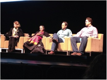 From Left to Right: Debbie Baker, Vandana Shiva, Sam May, Dave Murphy