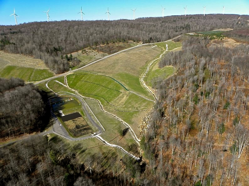 Reclaimed Kempton AML site in West Virginia. Photo credit: WV DEP
