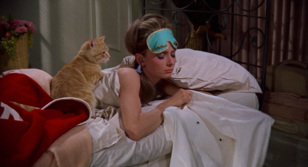 "Ahh. Breakfast at Tiffany's. Classic. Charming. AUDREY. ""I'd buy some furniture and give the cat a name!"""