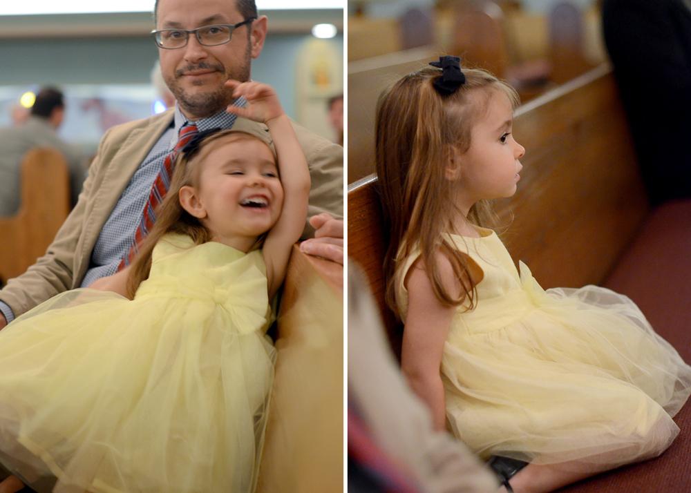 Lu and her lemon meringue dress at Cousin Romana's wedding. Little Rock, AR.