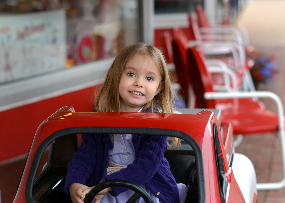 Underage driving at Walton's Drug Store, Bentonville, AR.