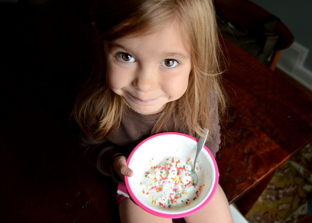 On your birthday, breakfast yogurt deserves sprinkles!