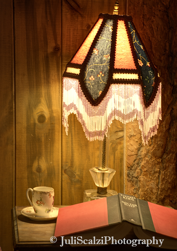 Goldminer Hotel Guest Room Spencer Closeup of Lamp, Book, Teacup FOR WEB.jpg