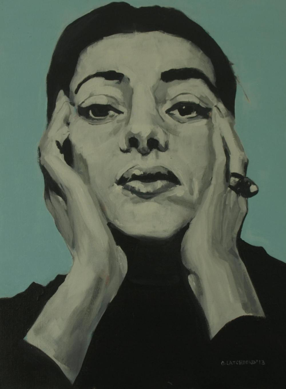Maria, Acrylic on board, 27cm x 18cm, 2013