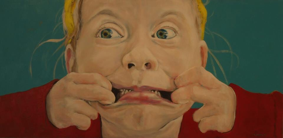 The Tooth Fairy, Oonagh Latchford, Acrylic on wood panel. 2ft x 4ft, 2015