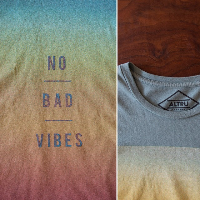 No Bad Vibes 🙌 #newarrival from #Altru