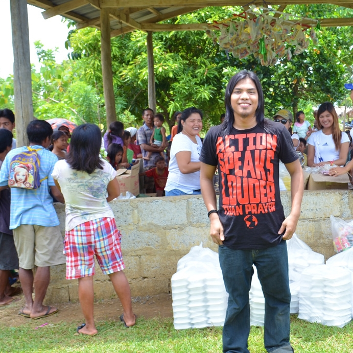 "A fan from the Philippines.    ""My friends and I held a small feeding program for the native tribe in our area."""