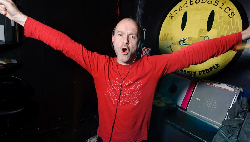 one of the originals.resident DJ James holroyd