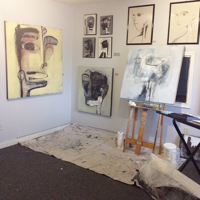 Paintings not to be missed by jonathan biehl @jbiehlart in studio 212