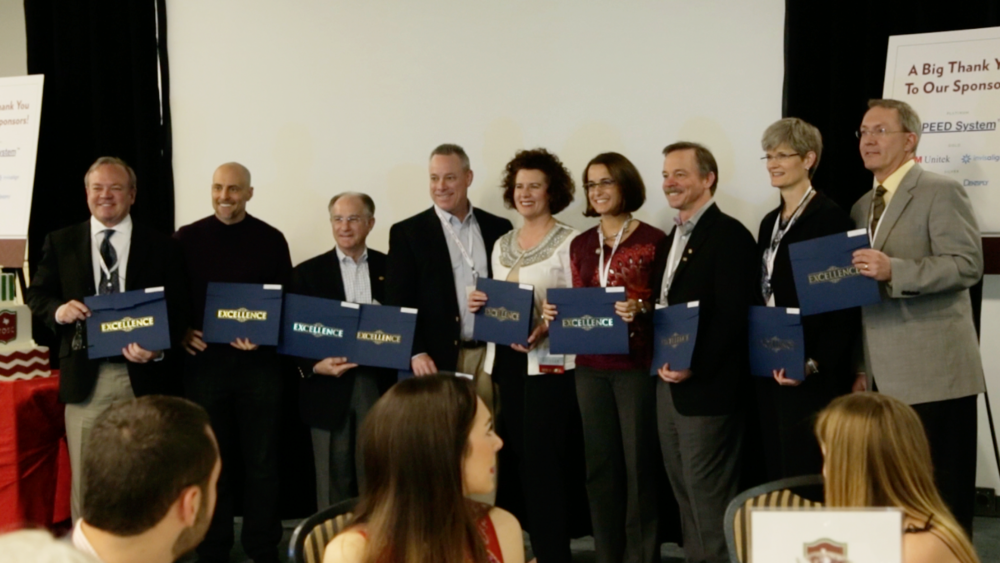 From left to right: Drs. Cliff Alexander, Nick Salome, Ron Gallerano, Devek Frech, Katie Julien, Aurora Sordelli, Dean Jensen, Lisa King, and Mike Chafee