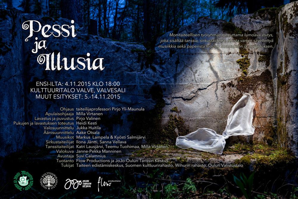 Flyer for Pessi ja Illusia.