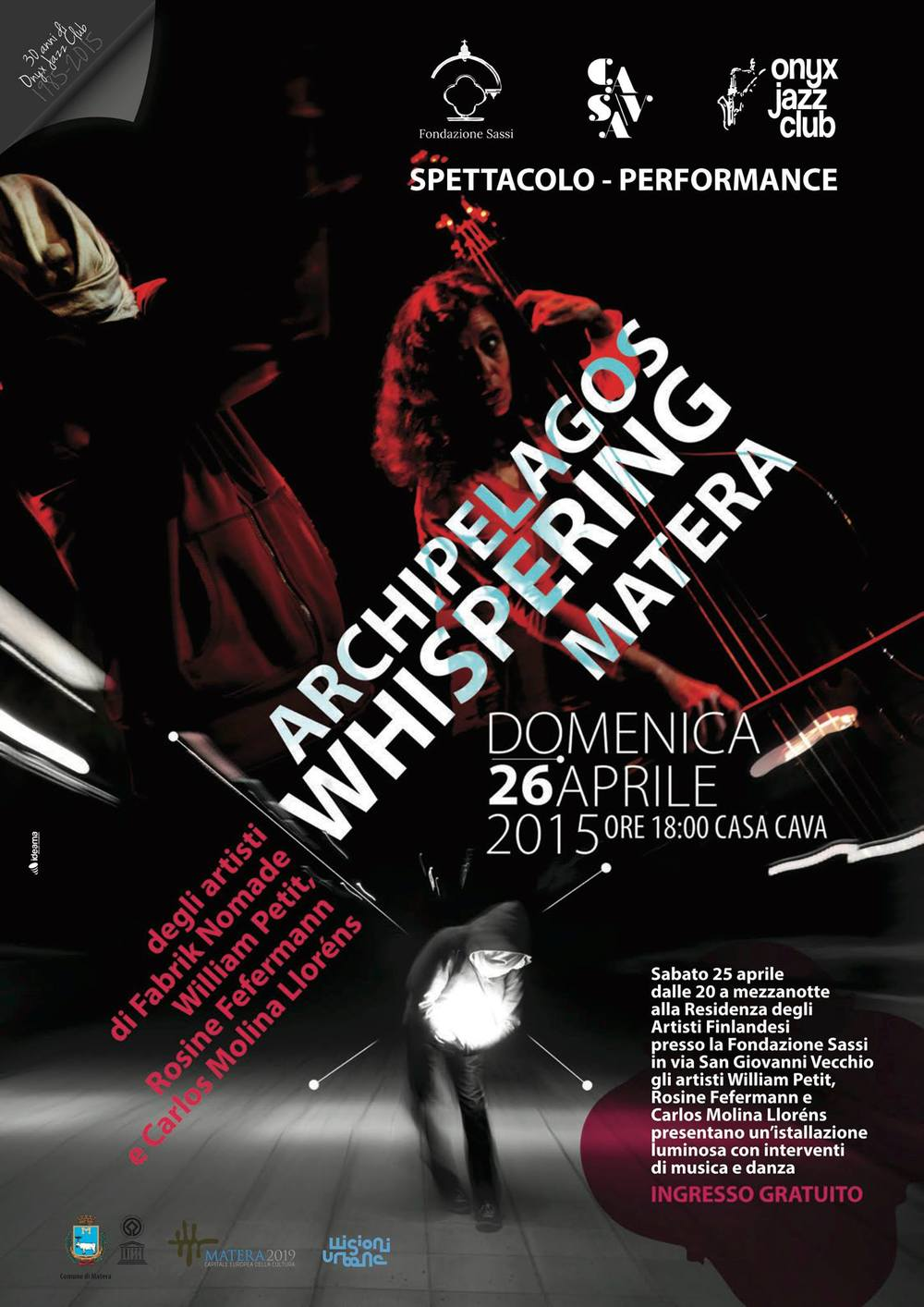 Flyer for Archipelagos Whispering.