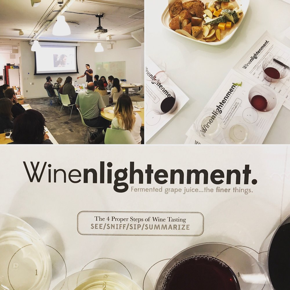 In spring of 2017, When I Work held a Winenlightenment event hosted by Gavin Martin.  The theme:  Fermented grape juice...the finer things.