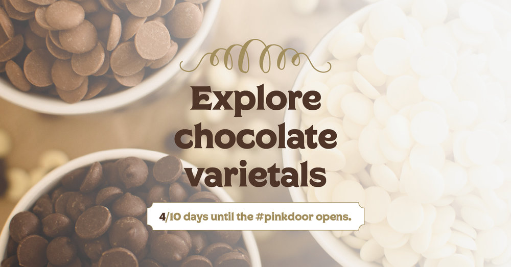 White, milk, dark or VERY dark? Find your chocolate at L'More Chocolat.  We can help you pass the test with flying colors. Our  #pinkdoor  opens August 5th and 6th, during our Grand Opening Weekend.