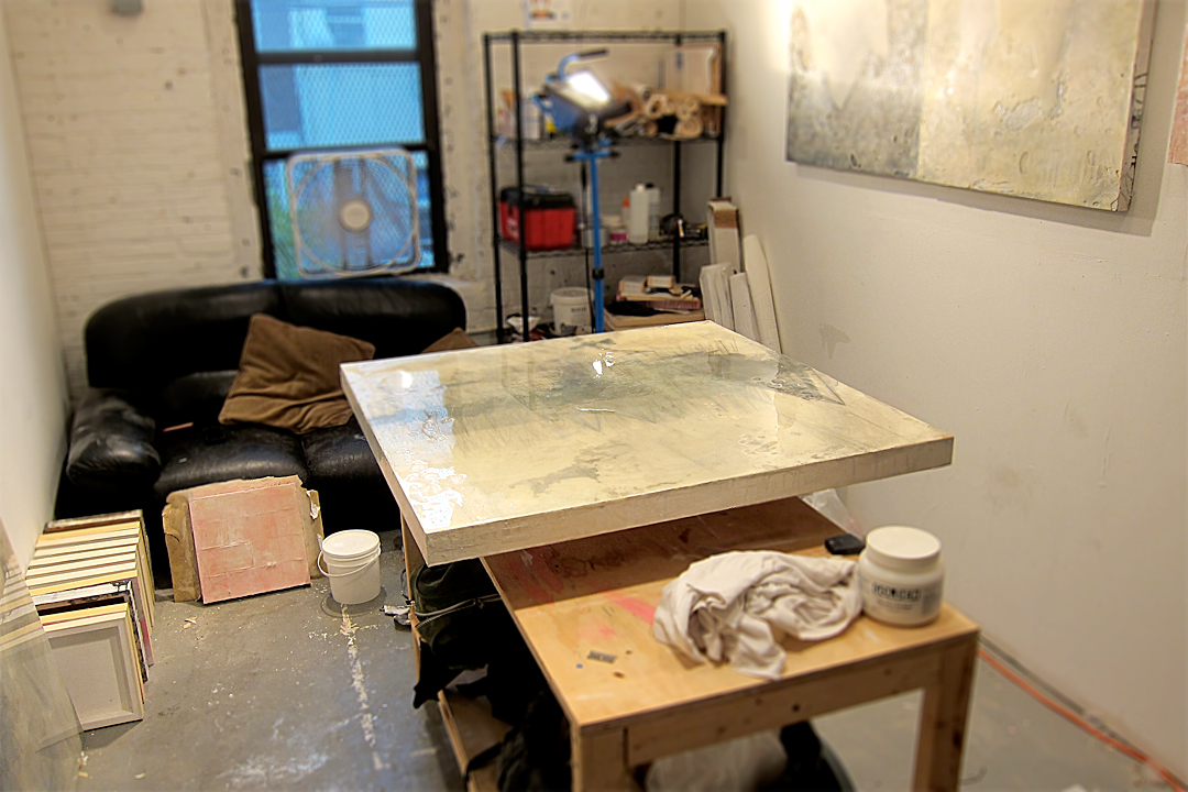 In the studio. 2nd resin pour