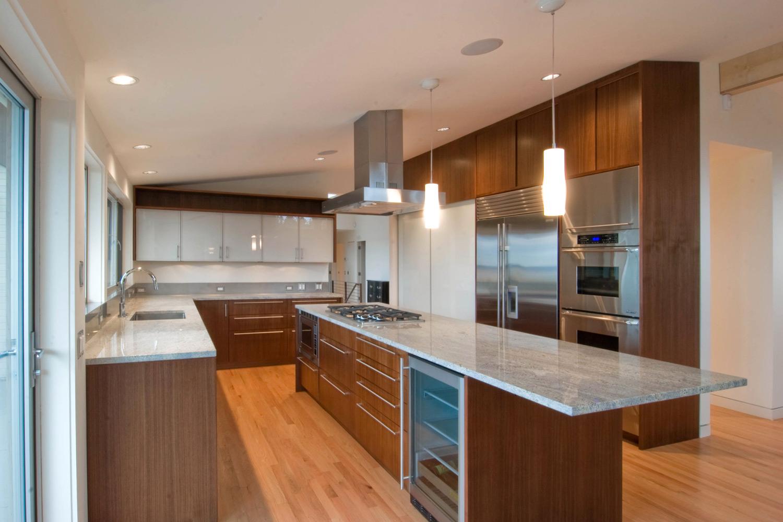 Mid Century Modern Kitchen Remodel build llc--innis arden residence