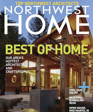 """Northwest Home Magazine February 2009 BUILD LLC named one of the """"Top 50 Northwest Architects"""""""