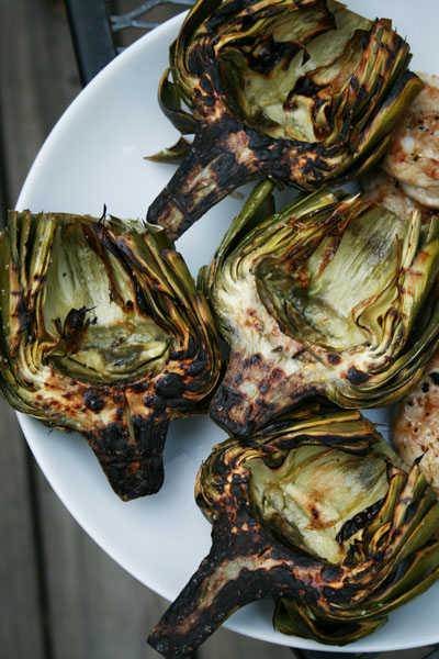 Savory Grilled Artichokes