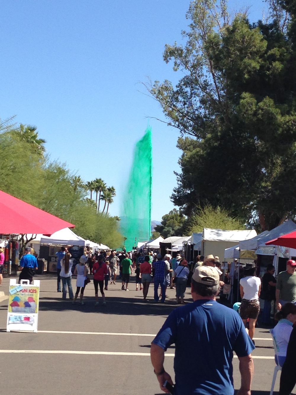 Fountain Hills celebrating St. Paddy's Day!  Fountain Hills Fine Art and Wine Festival