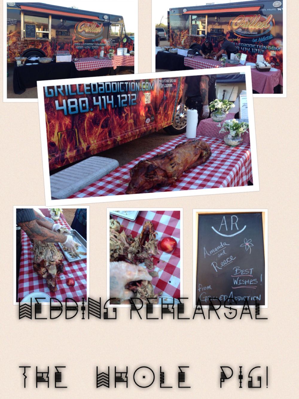 REHEARSAL DINNER PARTY!  WHOLE HOG!