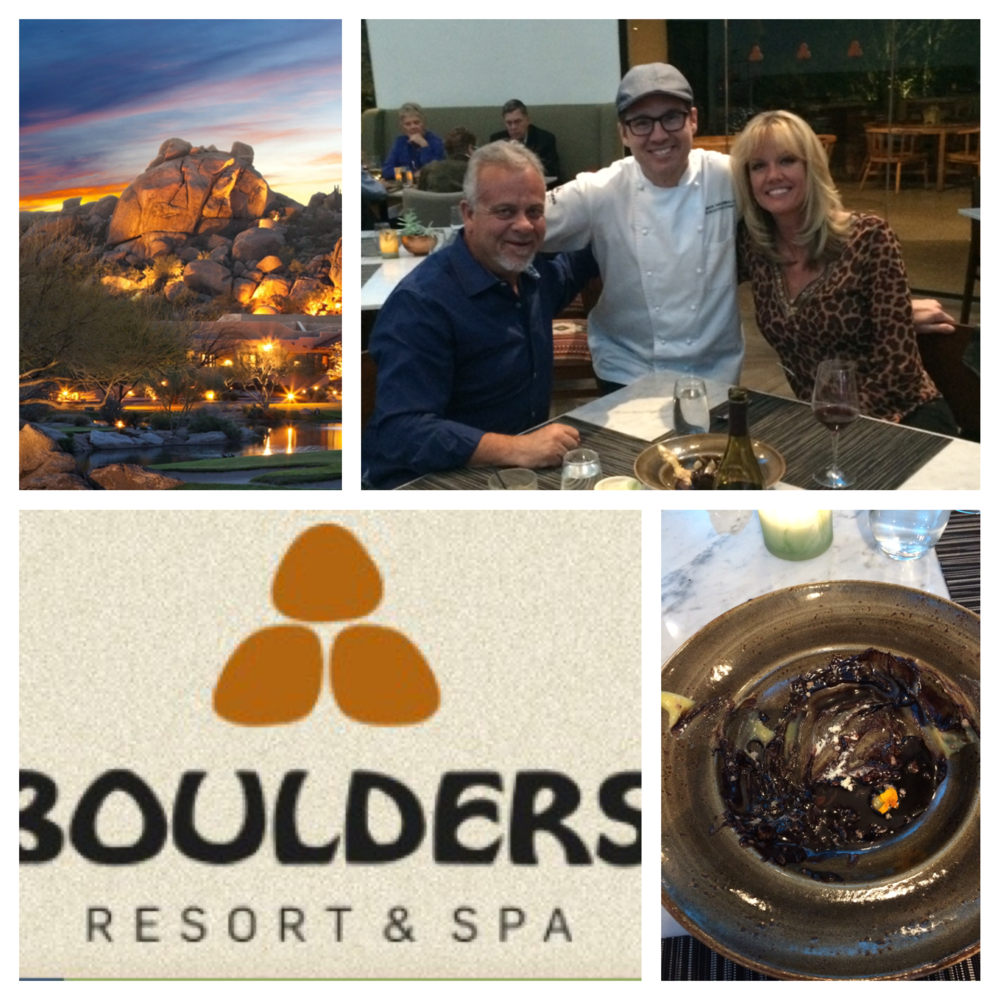 Fun night at The Boulders!  They served off the Wandering Donkey this night & treated us to this chocolate decadent thing!  Thanks Chef Archie!