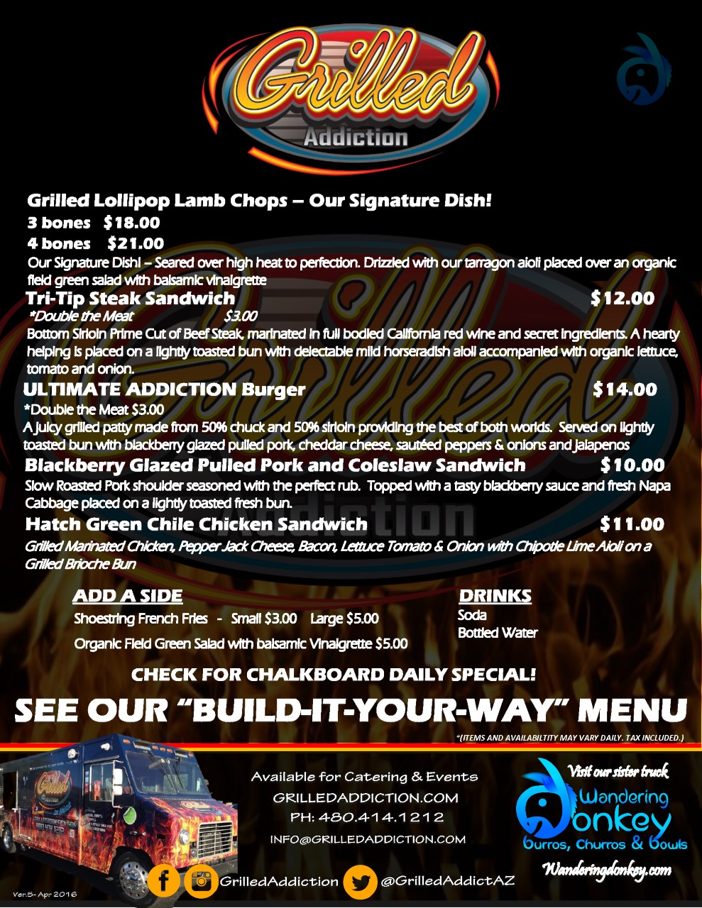 CATERING MENU Grilled Addiction