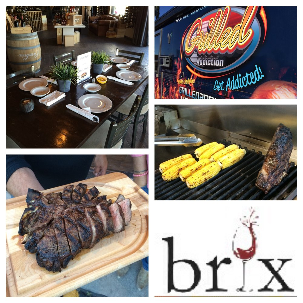 WE LOVE DOING A FAMILY STYLE DINNER AT BRIX WINES IN CAREFREE!  CALL US TO RESERVE AND ORDER 480-414-1212!    GREAT TO DO A TASTING TOO!