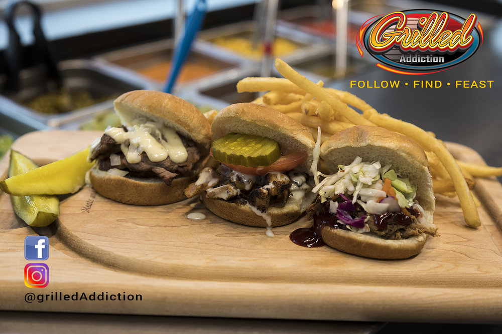 APPETIZERS....FINGER FOOD.....SLIDERS!  Take your pick; Tri-Tip, Grilled Chicken, Pulled Pork