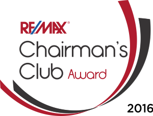 RE/MAX Chairman's Club Award 2016