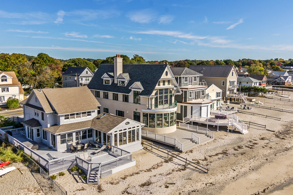 real estate drone aerial photos of  bayshore drive  milford, beach house for sale milford ct, beach house milford ct, beach house milford ct brunch