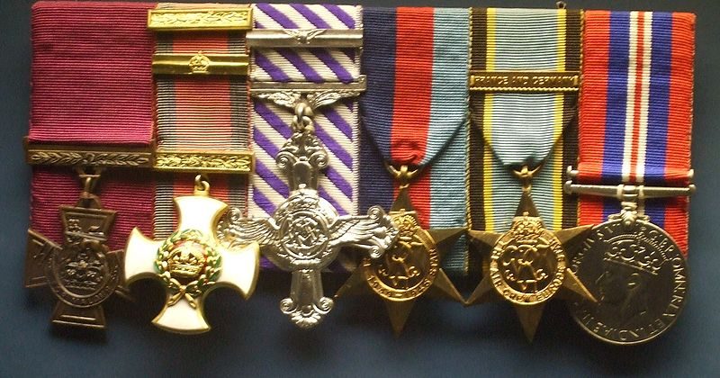 The medals of pilot Guy Gibson (from Wikipedia)