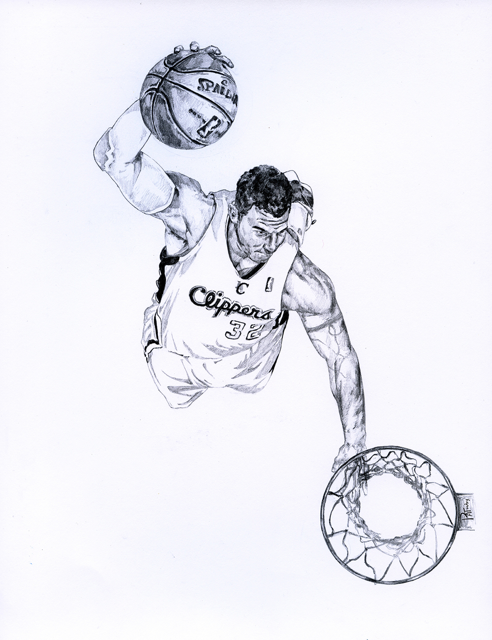 Blake griffin of the los angeles clippers buy prints here