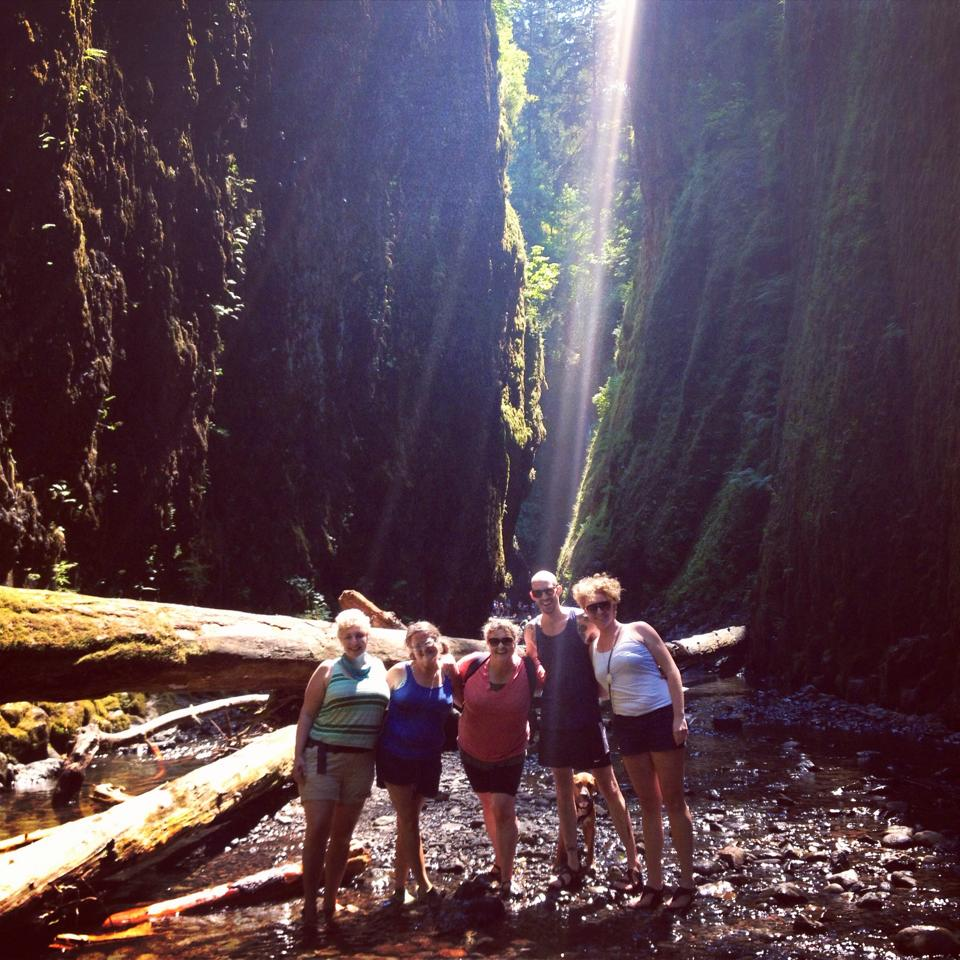 Intrepid travelers through the Oneonta Gorge
