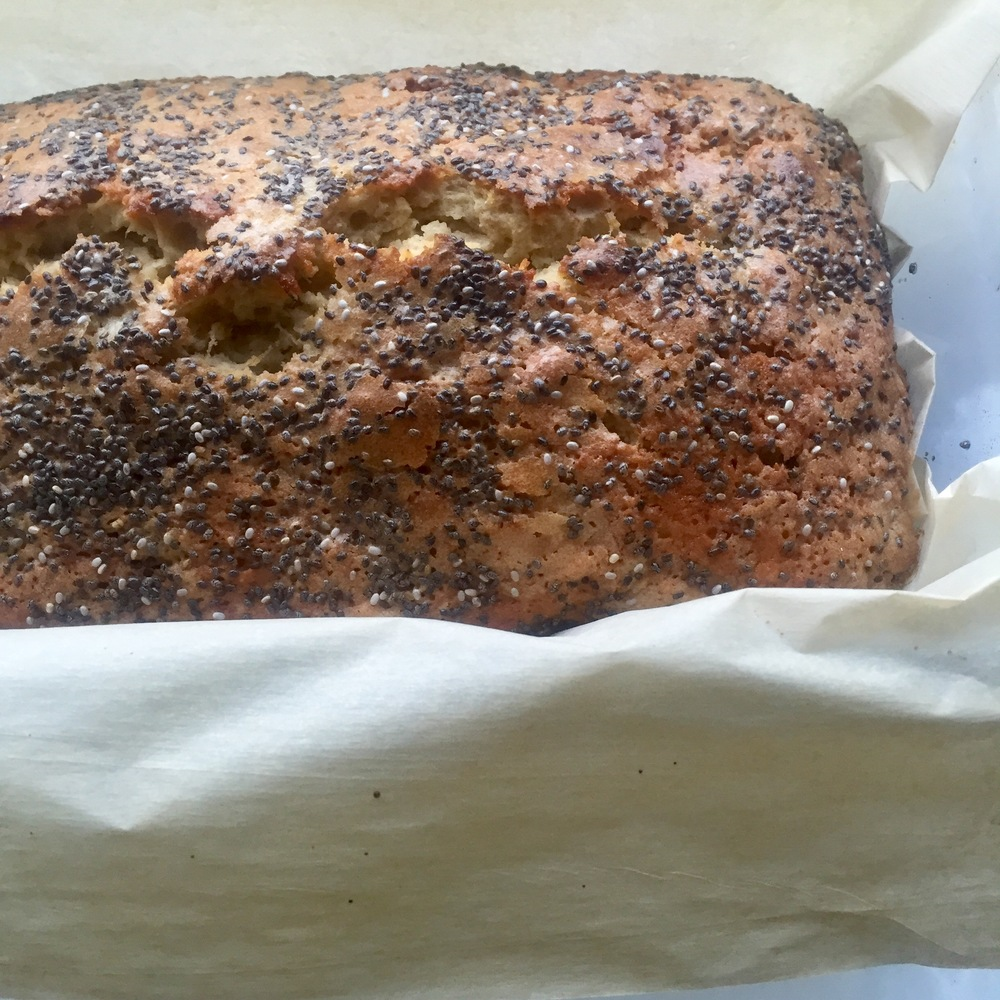 Cooling tahini banana bread
