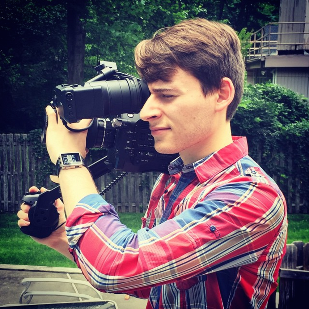 Adam testing out the new Sony FS7.