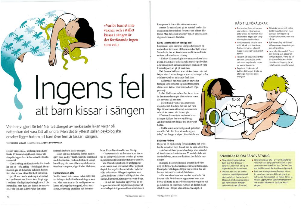 Vårdguiden, artikel om inkontinens som avdramatiserar föräldrars ansvar och skuldkänslor.