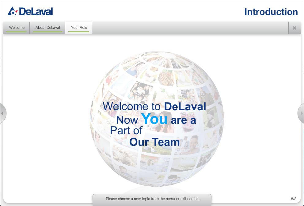 DeLaval – introduktionsutbildning
