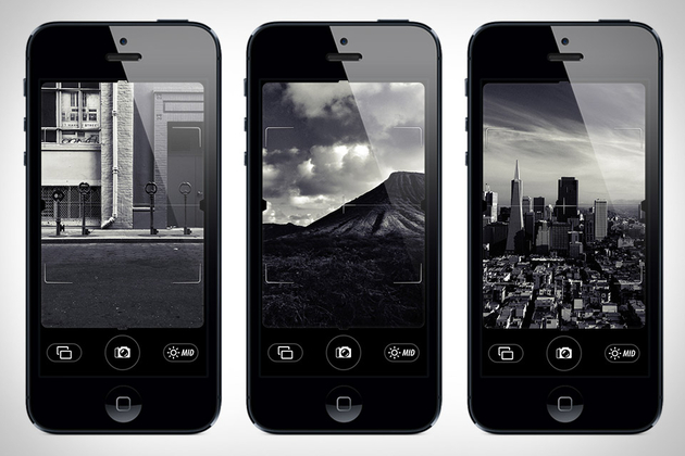 Dope Phone App If You Just Want Blk & Wht Photos. via Uncrate