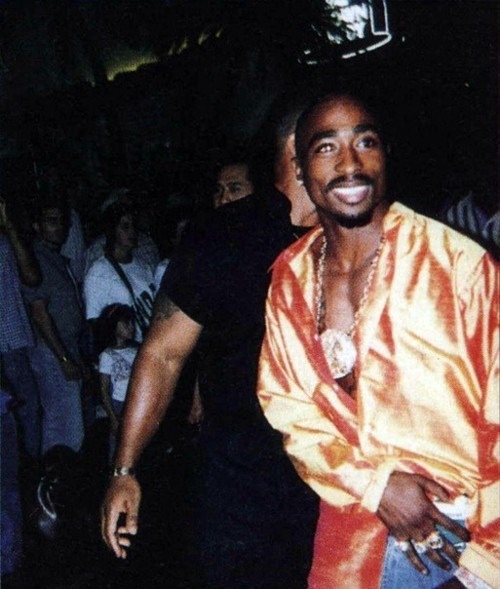 Tupac Tuesday! Shocking with Silk Garments.