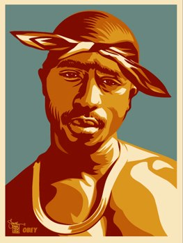 Thuglife Thursday! Tupac x Shepard Fairey.