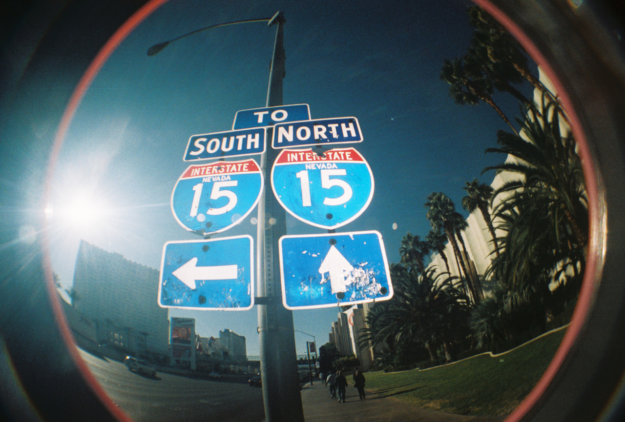 Las Vegas. Freeway. Fish Eye Lens Camera.