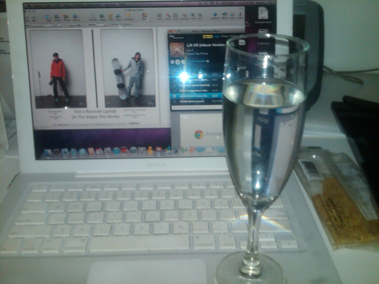 Desk of the Day: Water in Champagne Glasses.