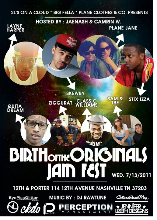 #Nashville Birth of The Originals Jamfest! Today! Presented by @2Lsonacloud at 12th & Porter