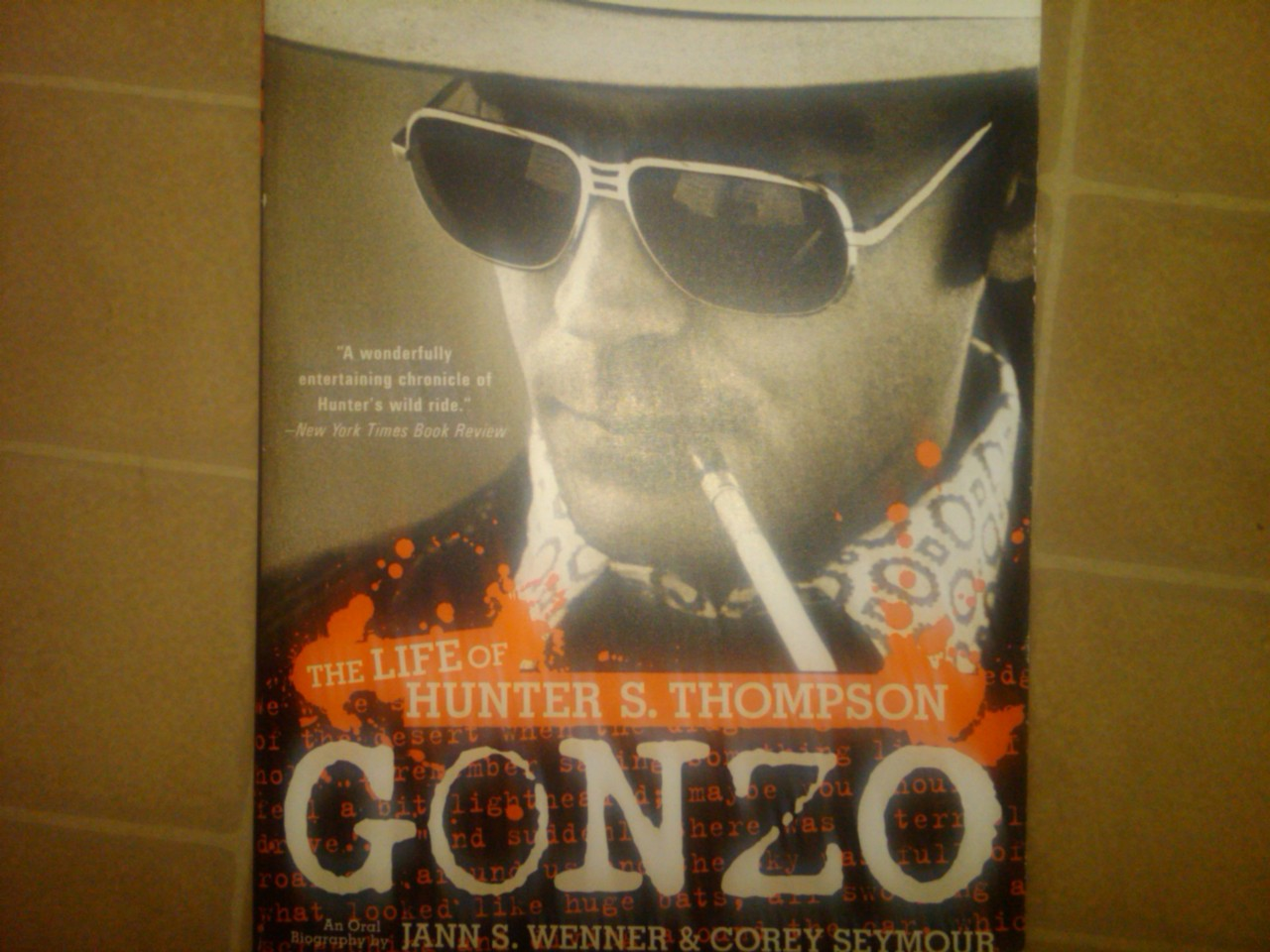 I Will Finally Complete You. Gonzo. Word to Hunter:)