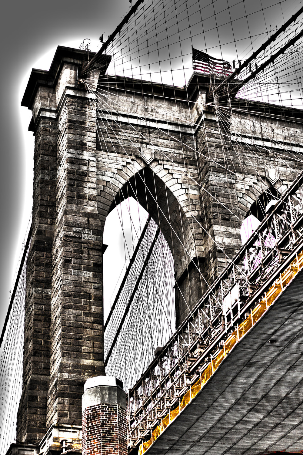 Brooklyn Bridge and the One World Trade building NYC, taken in December.