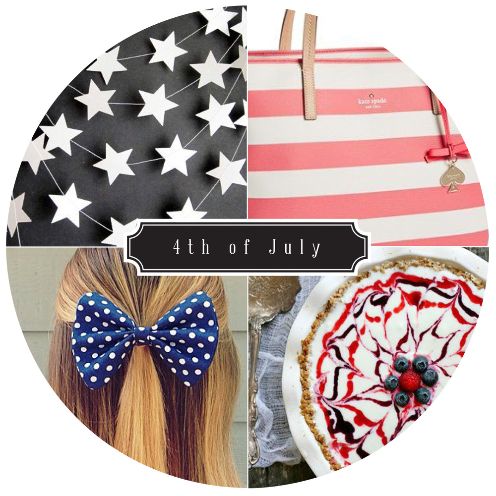 Clockwise:  Kate Spade  |  Dessert  |  Hair Bow  |  Garland