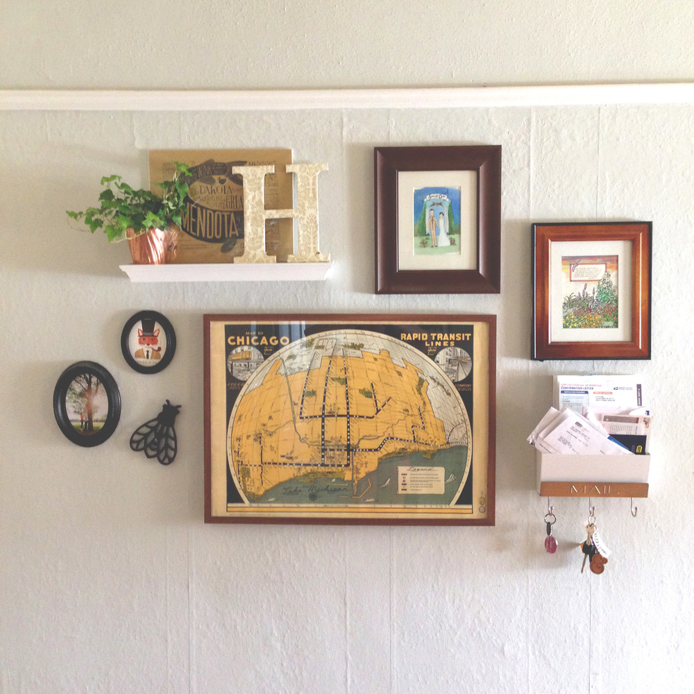 Our new gallery wall in our apartment. Photo by Caroline Hutchison